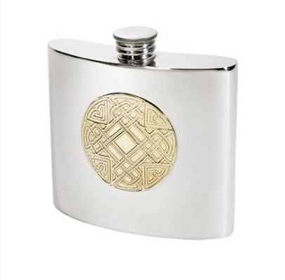 Celtic Circle Kidney Flask (2oz or 6oz)