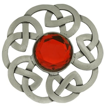 Plaid Brooch Celtic Interlace Antique
