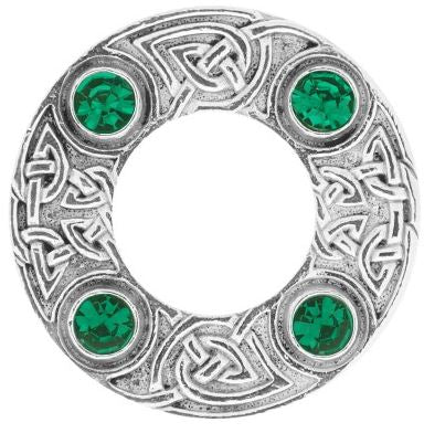 Dancer's Celtic Plaid Brooch