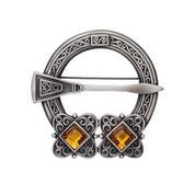 2 Stone Penannular Plaid Brooch -  - 1