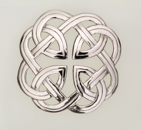 Plaid Brooch Eternal Interlace -