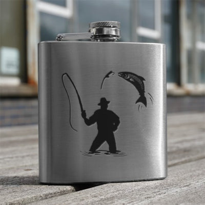 6oz Stainless Steel Hip Flask (various designs)