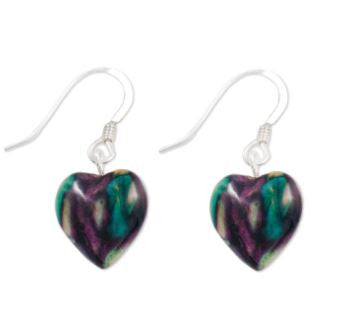 Heart Heather Drop Earrings -