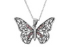 Jacobite Silver Butterfly Pendant