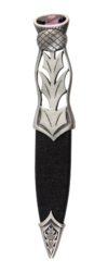 Jura Matt Pewter Sgian Dubh with Stone Top -