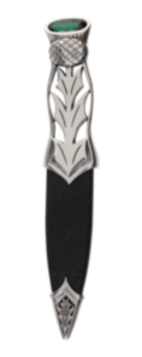 Jura Polished Pewter Sgian Dubh with Stone Top -