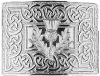 Celtic Dress Buckle, Thistle Mount