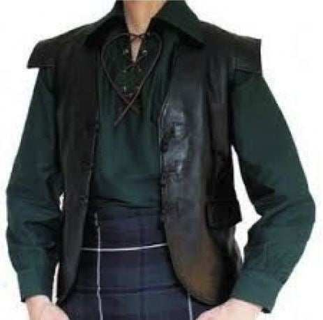 Leather Highland Vest