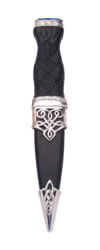 Lomond Sterling Silver Sgian Dubh with Stone Top -