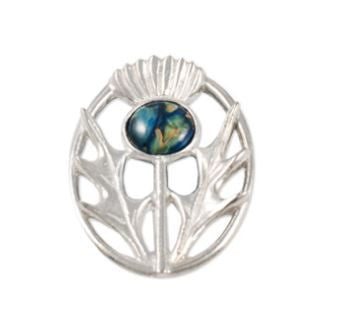 Modern Thistle Brooch -