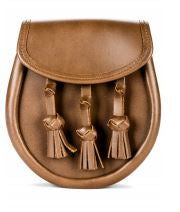 Plain Leather Knotted Tassels Sporran