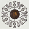 Plaid Brooch Scottish Thistle -