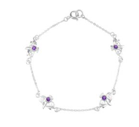 Scottish Thistle Silver Bracelet