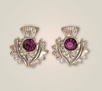 Scottish Thistle Earrings (2) -