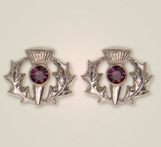 Scottish Thistle Earrings (3) -