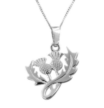 Scottish Thistle Silver Pendant (2)
