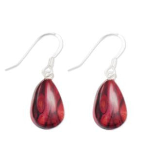 Teardrop Heather Earrings -