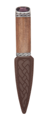 Torridon Rosewood Sgian Dubh with Stone Top -  - 1