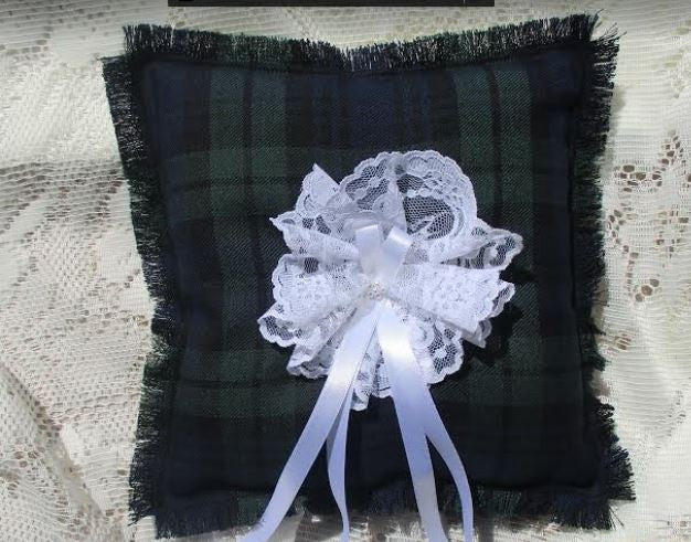 Ring Cushion, Tartan