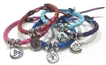 Celtic Leather Bracelet, colours