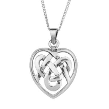 Celtic Knotwork Heart Pendant
