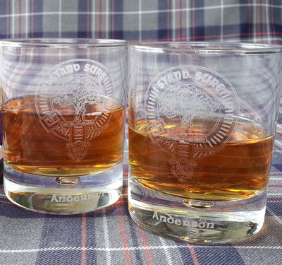 Whisky Glasses, Clan Crested