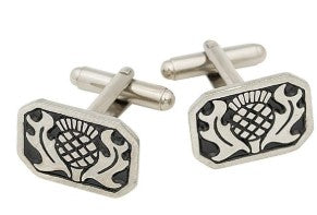 Cuff Links, Rectangle Thistle