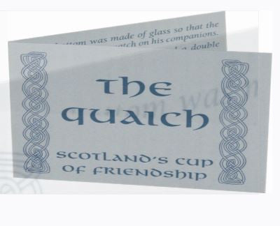 Pewter Quaich- Celtic Band