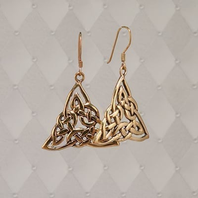 Triangle Knot Earrings