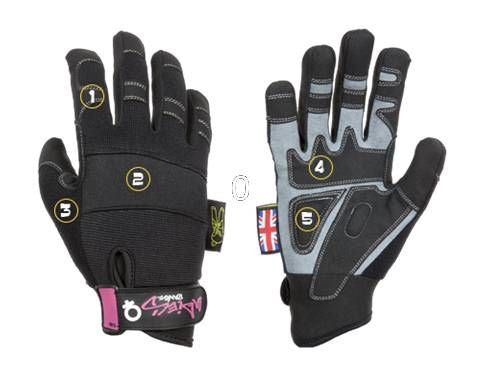Dirty Rigger Ladies Comfort Fingerless Rigging / Loader Gloves