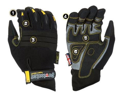 Dirty Rigger Protector Armortex Full Finger Rigging / Loader Gloves