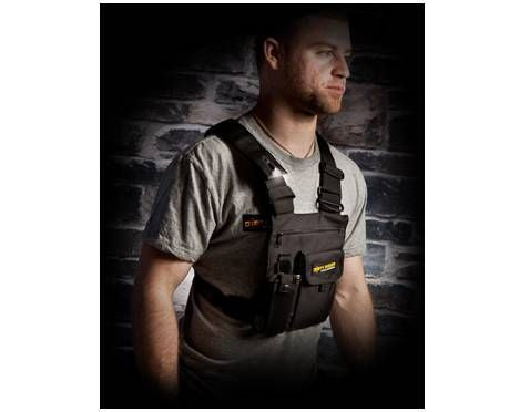 Dirty Rigger LED Chest Rig Utility Pouch + Gloman LED for Hands Free Work