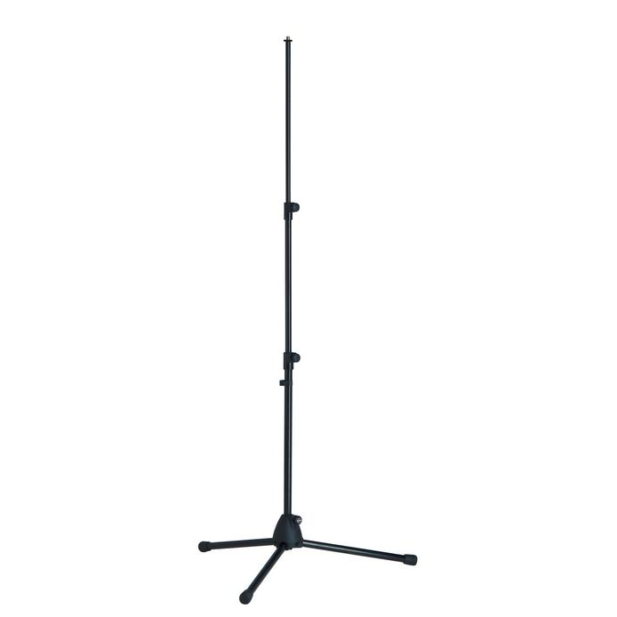 K&M Stands 199 Mic Stand Straight 3-Section Plastic Base Black