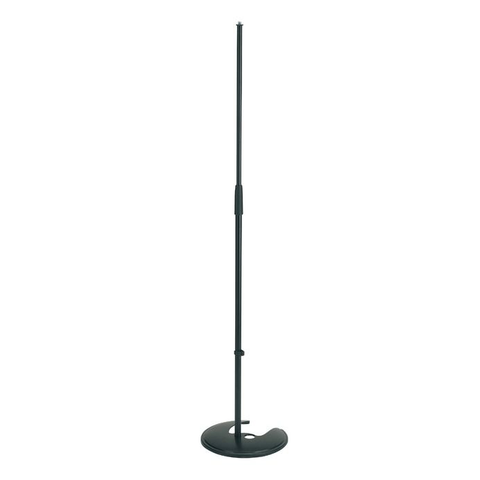 K&M Stands 26045 Mic Stand Straight Stackable (up to 5) Cast Base Black