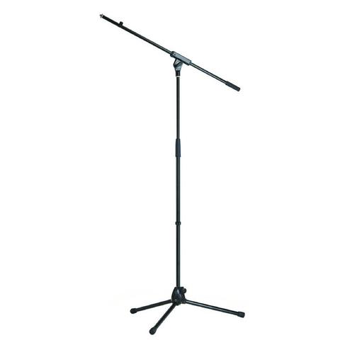 K&M Stands 210/7 'Low-Cost' Mic Boom Stand Folding Legs All-Metal Black