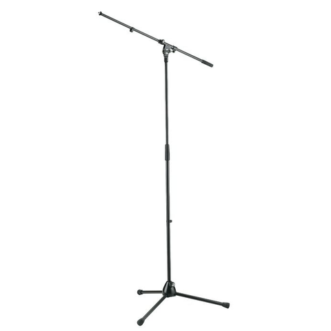 K&M Stands 210/2 Classic Mic Boom Stand All-Metal with Long-Legs Black