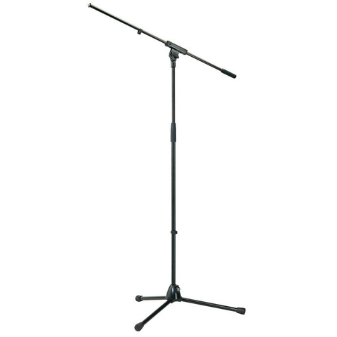 K&M Stands 210/6 Mic Boom Stand All-Metal with Long Legs Black