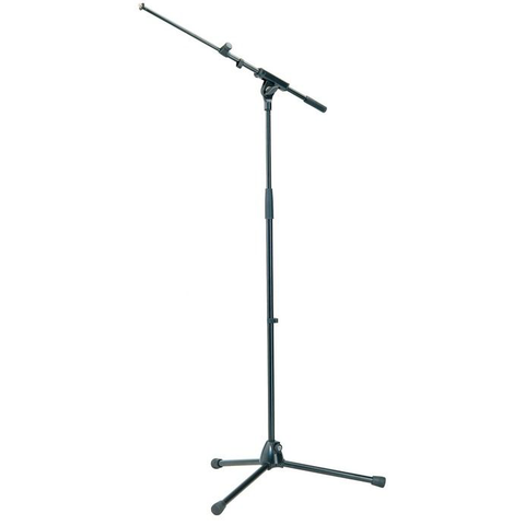 K&M Stands 210/8 SSJ Mic Boom Stand All-Metal with Extending Boom Black