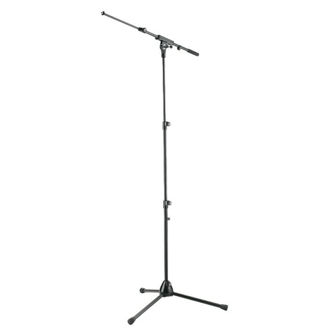 K&M Stands 252 Mic Boom Stand with 3-Section Column Black