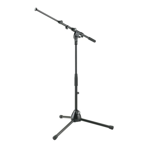 K&M Stands 259 Low Level Mic Stand with Extendable Boom Black