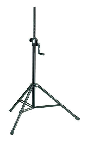 K&M Stands 213 Speaker Stand H/D Steel with Hand Crank 2.18m 50kg Load