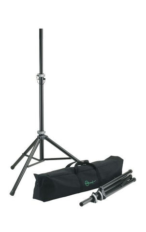 K&M Stands 21459 Speaker Stand Package 2 x 21450 Stands and Carry Bag