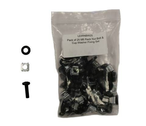 Pack of M6 Rack Nut Bolt & Cup Washer Fixing Set