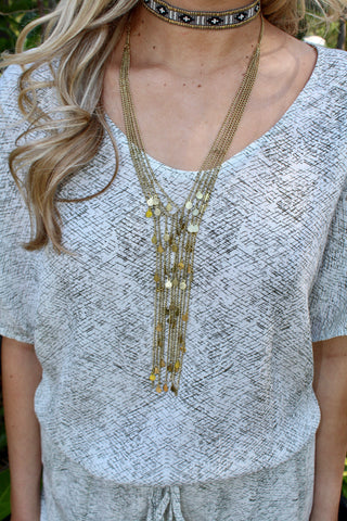 Multi Strand Boho Necklace