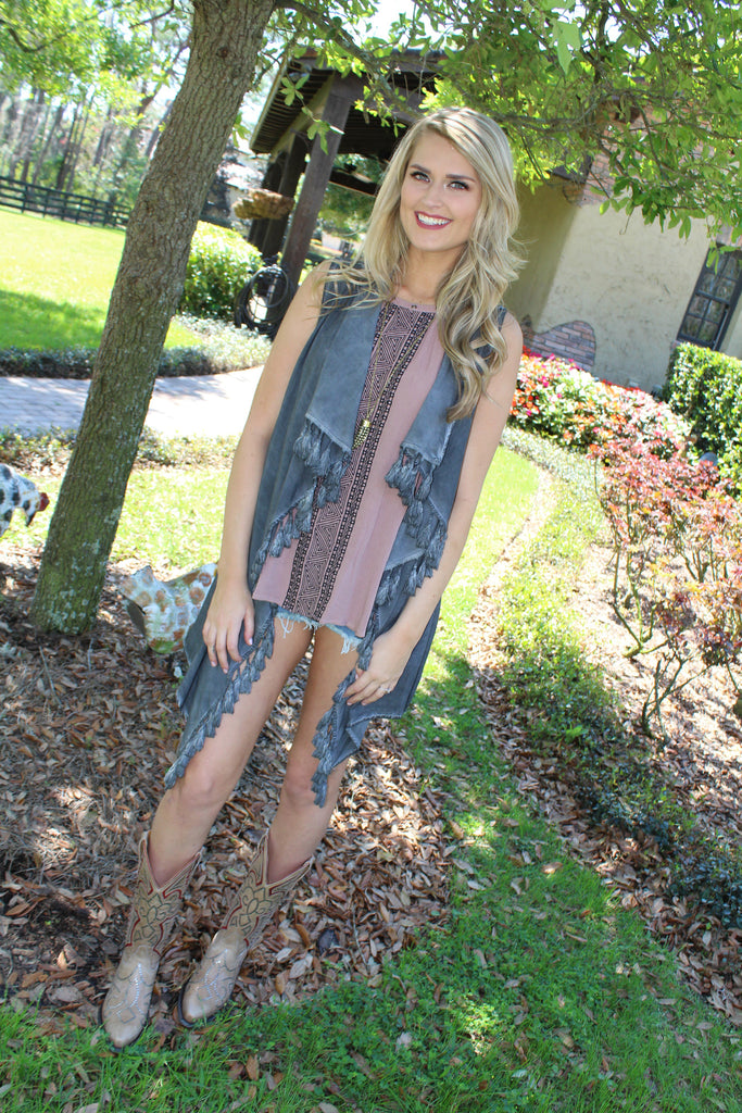 Go Everywhere Fringe Vest