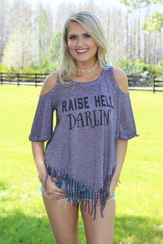 RAISE HELL DARLIN - PURPLE FRINGE