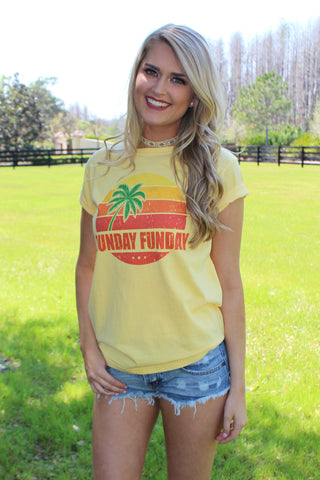 SUNDAY FUNDAY - YELLOW TEE