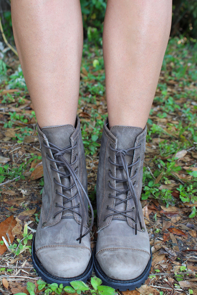 Lace Up Combat Boot