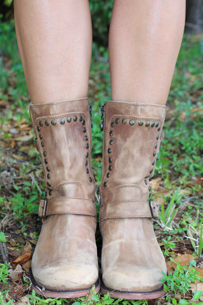 Harness Stud Combat Boot