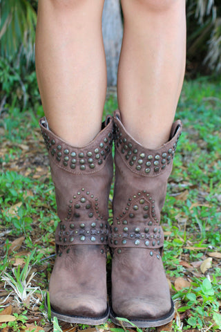 Studded Harness Bootie